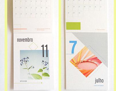 Notebook and calendar
