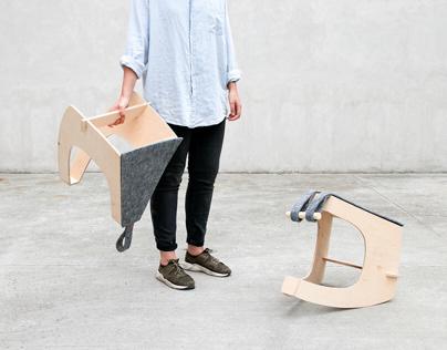 CHYBOTY set of rocking stools