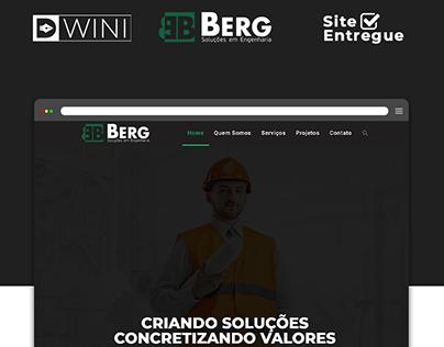 Criação de Site para Berg Engenharia