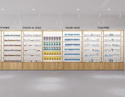 Modular Pharmacy Display Interior Design Video