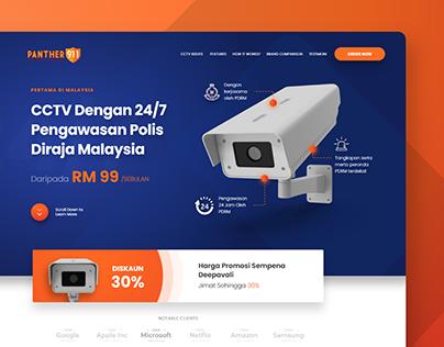 Panther 911 UIUX Agent Page Web Design