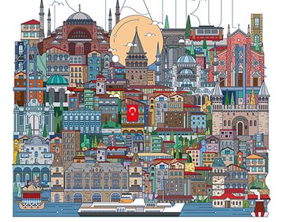 Istanbul Senin Project Illustration