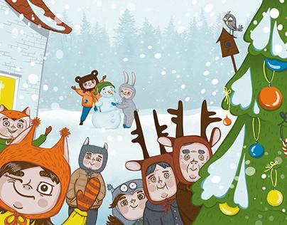 """Family holidays"" - audiobook illustration"