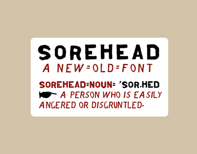 Sorehead Font Family Inspired by Jesse Howard