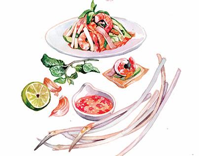 Lotus recipes | Food illustration