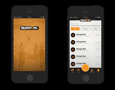 Gearmunk App UI/UX Design