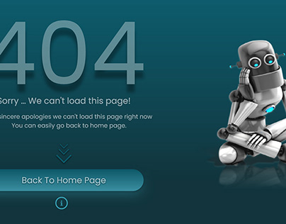 404 Error Page - Web App Template ( re created )