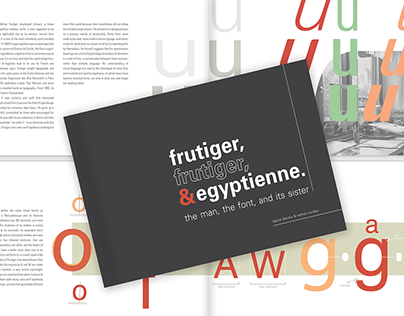 Frutiger, Frutiger, & Egyptienne: Type Specimen Book
