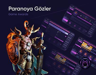 Paranoya Gözler UI/UX Design - Case Study
