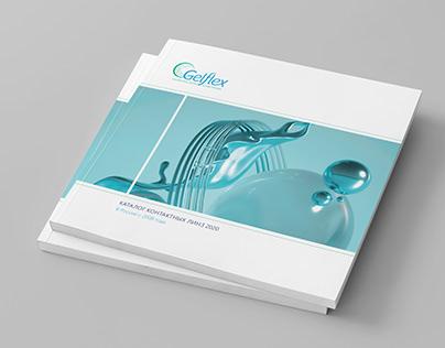 Верстка каталога контактных линз для компании Gelflex
