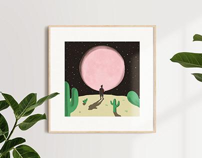 Pink Moon: illustrated tribute to Nick Drake
