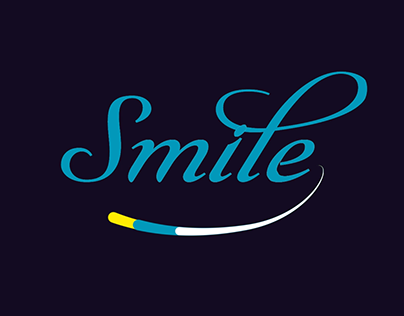 Lettering Logo Animation - Smile