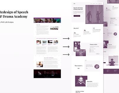 Website design/redesign of a drama school's website
