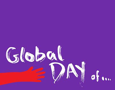 UN international days posters set