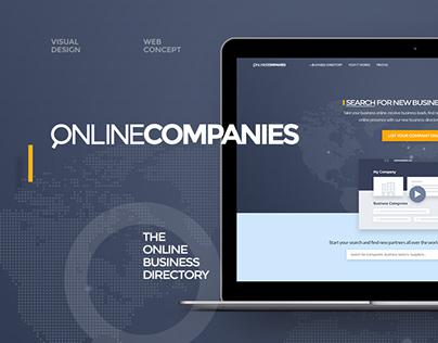 Online Companies Web Concept