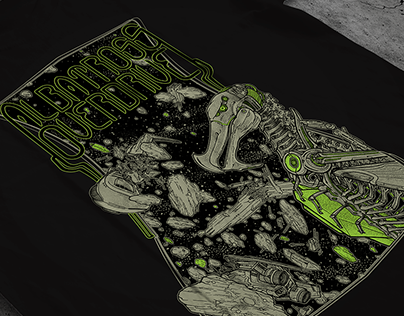 "Albatross Overdrive (US) - ""Ascendant"" tshirt artwork"