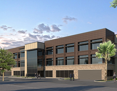 Commercial Building Exterior, Texas.