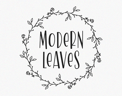 Modern Leaves -elegant slab-