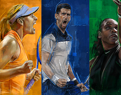 Miami Open: Player Illustrations