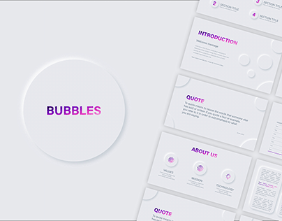 Bubbles - neumorphic presentation template