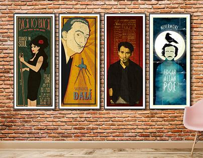 Ilustraciones para pósters decorativos.