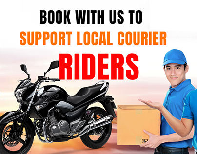 Facebook Promotional Ads Banner Design for Local Courie