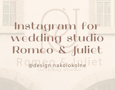 Instagram for wedding studio