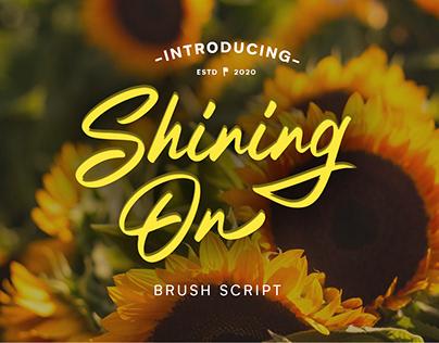 Shining On Brush Script