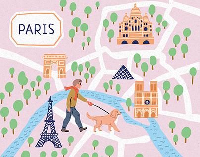 France City Tourist Maps - Paris, Lyon, Marseille, Nice
