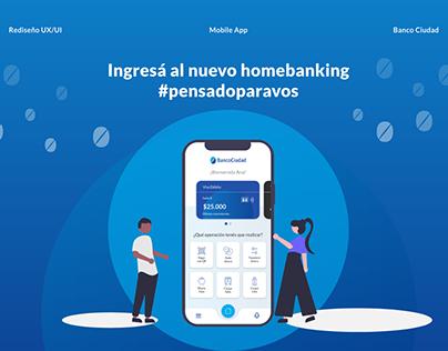 Rediseño Mobile App Banco Ciudad