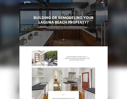 Web Design // Construction & Interior Design Website