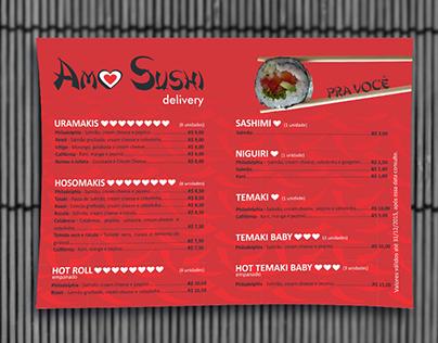 Folheto Amo Sushi Delivery