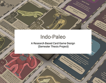 Indo-Paleo, a card game based on Indian Extinct Animals