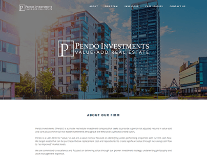 Pendo Investment (Wordpress Avada Theme)
