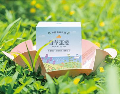 寧靜海香草園|香草蛋捲包裝設計 Packaging Design
