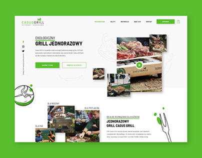 UX and UI design one page shop