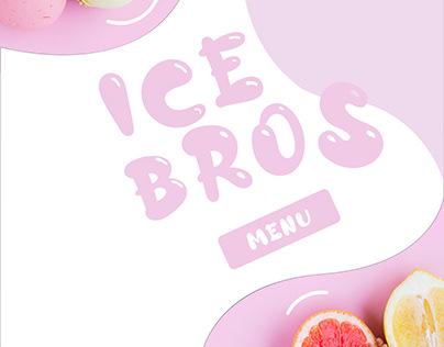 Ice Bros MenuCard