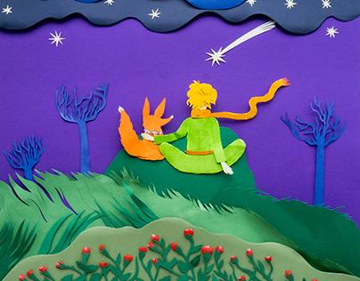 The Little Prince. Paper cut art.