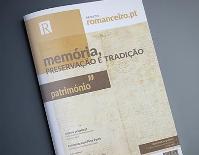 Concepção da Brochura do projeto Romanceiro.pt