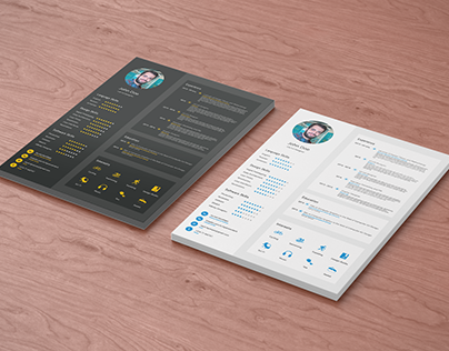 Flat Free Resume Template
