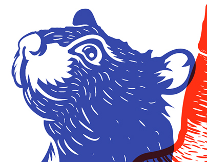 Rat Screen Print Illustration