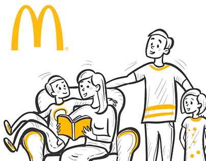 McDonald's. Illustrations for animation.