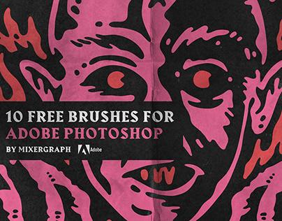 10 Free Brushes for Adobe Photoshop