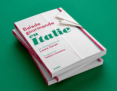 Balade gourmande en Italie | Book design