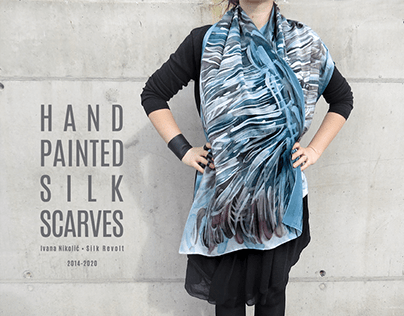 Hand painted silk scarves 2014-2020 part #3