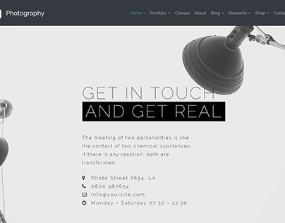 Photography WordPress Theme - Slider Contact