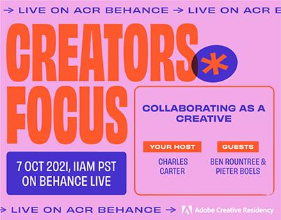 Creator Focus Live: Ben Roundtree & Pieter Boels
