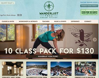 Website Design: Wanderlust Yoga Studios