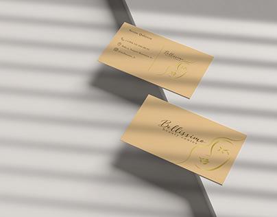'Bellissimo' beauty center business card