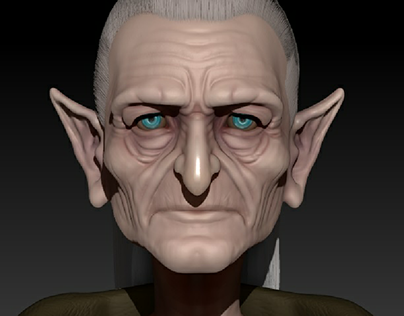 Practice on Zbrush - Ancient elf